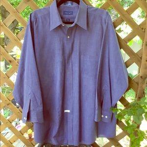 Beautiful Blue Dress Shirt 17.5x32/33